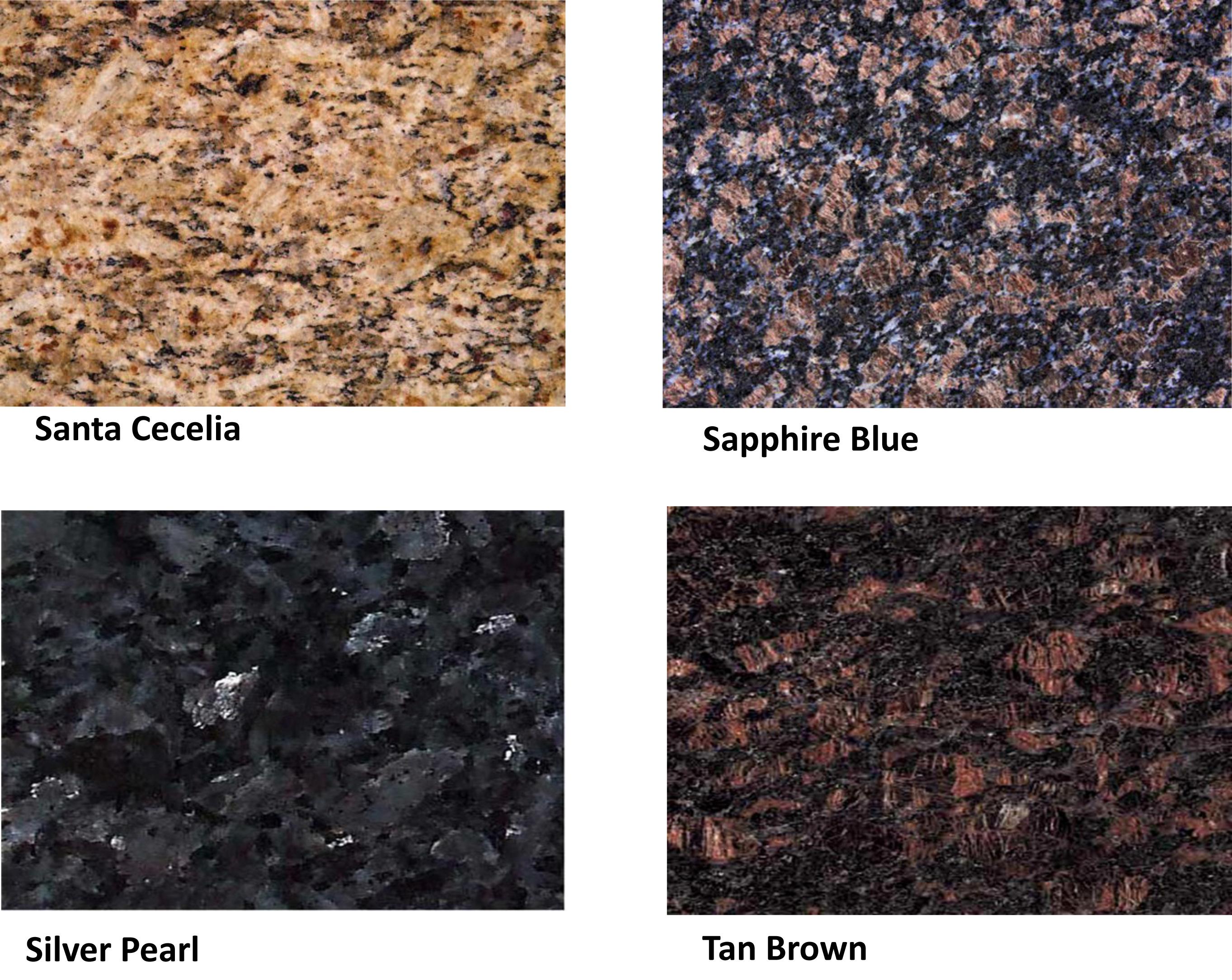 Granite Countertops Color Samples